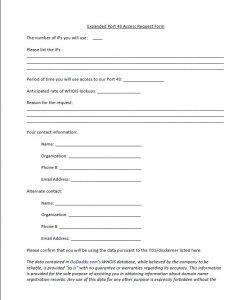 Godaddy Port 43 form pg1