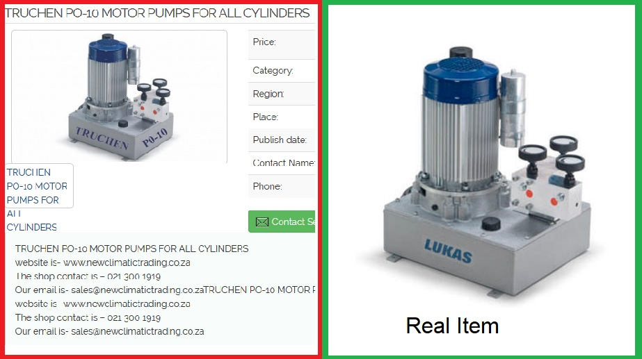 Truchen pump in reality a Lucas pump